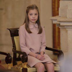 La Infanta Sofía en la entrega del Toisón de Oro a la Princesa Leonor