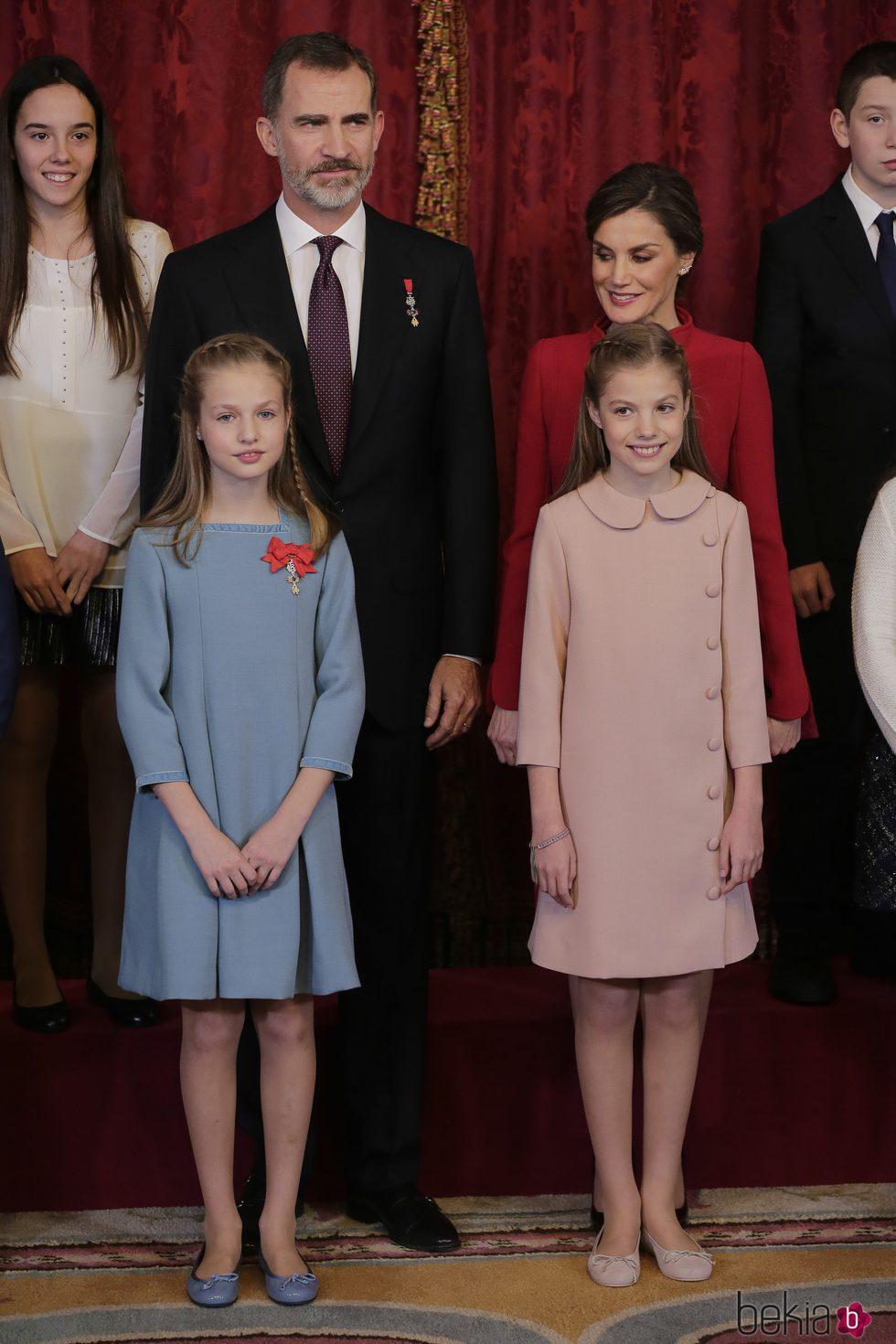 Los Reyes Felipe y Letizia, la Princesa Leonor y la Infanta Sofía en la entrega del Toisón de Oro
