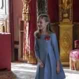 La Princesa Leonor tras la imposición del Toisón de Oro