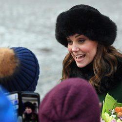Kate Middleton, muy simpática con la población sueca en su viaje oficial
