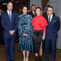 Los Duques de Cambridge con Victoria y Daniel de Suecia en Fotografiska