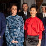Kate Middleton y Victoria de Suecia durante su visita a Fotografiska