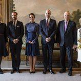 La Familia Real Noruega con los Duques de Cambridge en el Palacio Real de Osolo