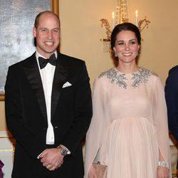 El Príncipe Guillermo y Kate Middleton en la cena de gala en su honor en Oslo