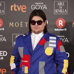 Brays Efe en la alfombra roja de los Premios Goya 2018