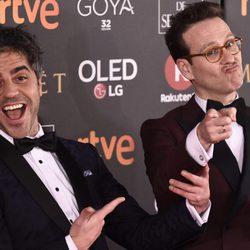 Ernesto Sevilla y Joaquín Reyes en la alfombra roja de los Premios Goya 2018