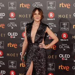 Antonia San Juan en la alfombra roja de los Premios Goya 2018