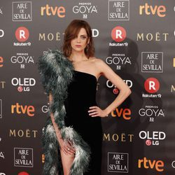 Macarena Gómez en la alfombra roja de los Premios Goya 2018