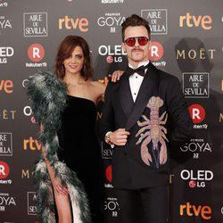 Macarena Gómez y Aldo Comas en la alfombra roja de los Premios Goya 2018