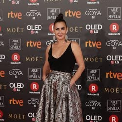 Belén López en la alfombra roja de los Premios Goya 2018