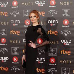 Cristina Castaño en la alfombra roja de los Premios Goya 2018