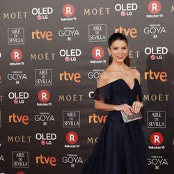Juana Acosta en la alfombra roja de los Premios Goya 2018