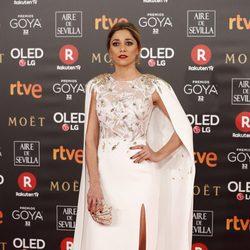Miriam Hernández en la alfombra roja de los Premios Goya 2018