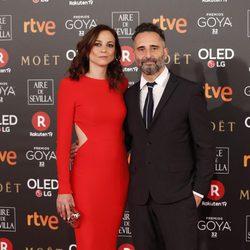 Leonor Watling y Jorge Drexler en la alfombra roja de los Premios Goya 2018