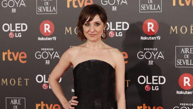 Nathalie Poza en la alfombra roja de los Premios Goya 2018