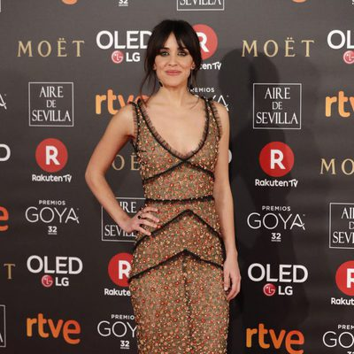 Macarena García en la alfombra roja de los Premios Goya 2018