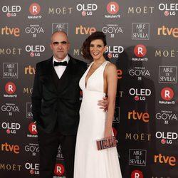 Luis Tosar y María Luisa Mayol en la alfombra roja de los Premios Goya 2018