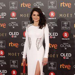Penélope Cruz en la alfombra roja de los Premios Goya 2018