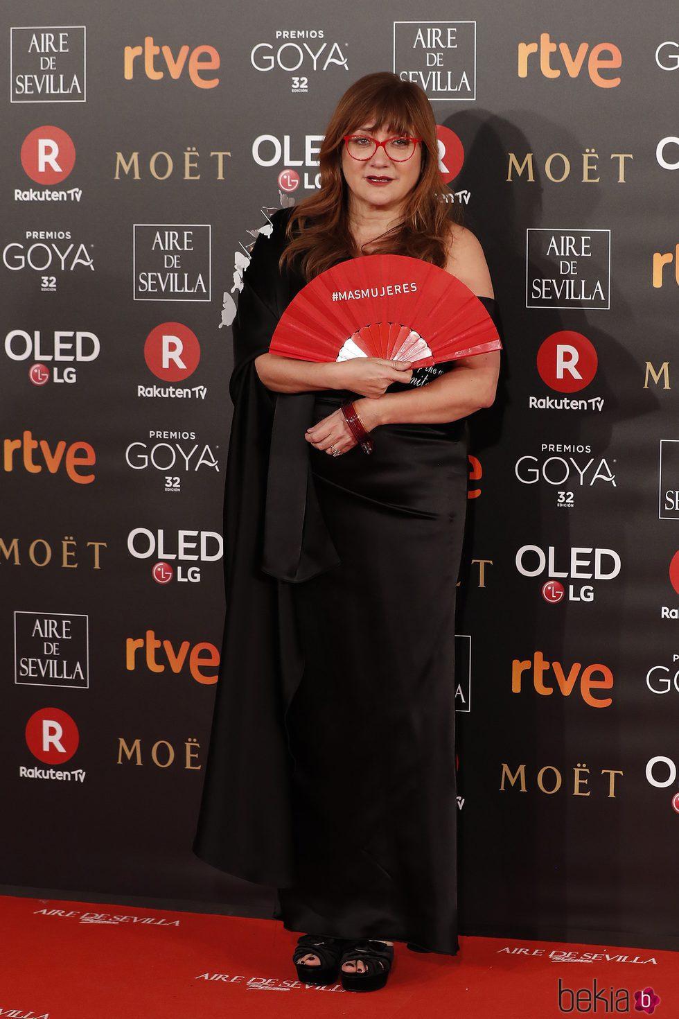 Isabel Coixet en la alfombra roja de los Premios Goya 2018