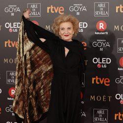 Marisa Paredes en la alfombra roja de los Premios Goya 2018