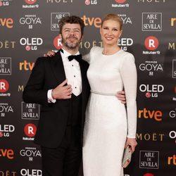 Anne Igartiburu y Pablo Heras Casado en la alfombra roja de los Premios Goya 2018