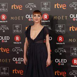 Najwa Nimri en la alfombra roja de los Premios Goya 2018