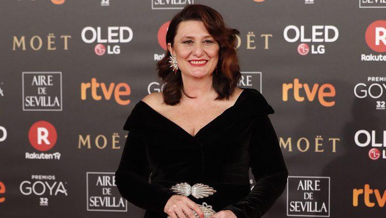 Adelfa Calvo en la alfombra roja de los Premios Goya 2018