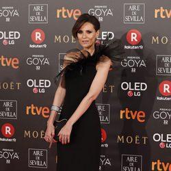 Elena Ballesteros en la alfombra roja de los Premios Goya 2018