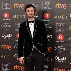 Raúl Arévalo en la alfombra roja de los Premios Goya 2018