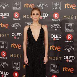 Aura Garrido en la alfombra roja de los Premios Goya 2018