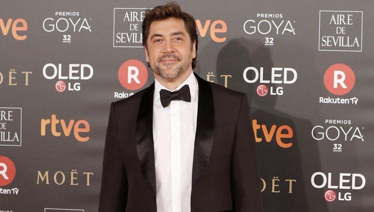Javier Bardem en la alfombra roja de los Premios Goya 2018