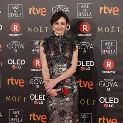 Emily Mortimer en la alfombra roja de los Premios Goya 2018