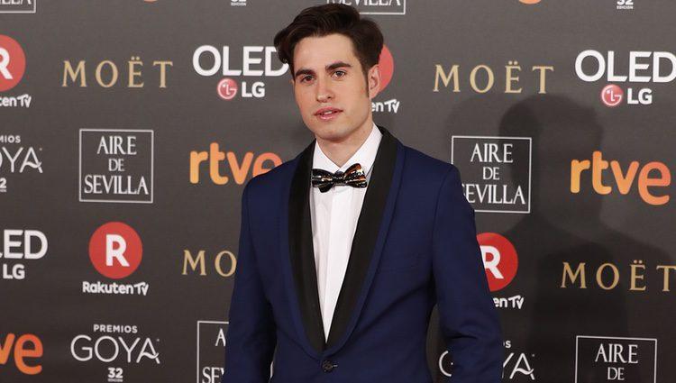 Eloi Costa en la alfombra roja de los Premios Goya 2018