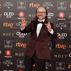 Santiago Segura en la alfombra roja de los Premios Goya 2018