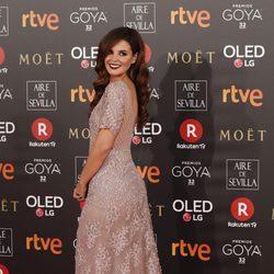 Marta Troné en la alfombra roja de los Premios Goya 2018