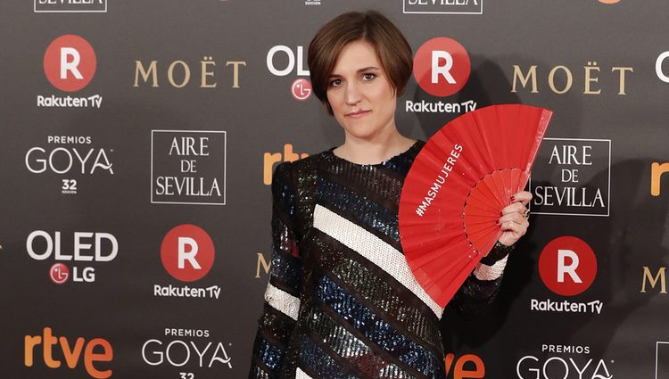 Carla Simón en la alfombra roja de los Premios Goya 2018