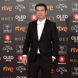 Arturo Valls en la alfombra roja de los Premios Goya 2018