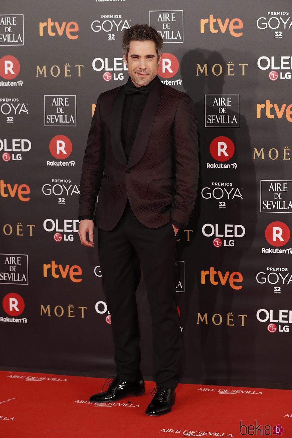 Unax Ugalde en la alfombra roja de los Premios Goya 2018