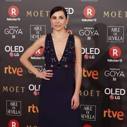 Marian Álvarez en la alfombra roja de los Premios Goya 2018