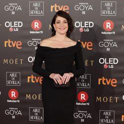 Nora Navas en la alfombra roja de los Premios Goya 2018