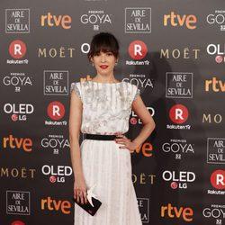 Verónica Sánchez en la alfombra roja de los Premios Goya 2018