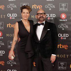 José Corbacho en la alfombra roja de los Premios Goya 2018