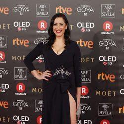 María Isasi en la alfombra roja de los Premios Goya 2018