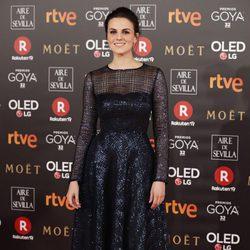 Melina Matthews en la alfombra roja de los Premios Goya 2018