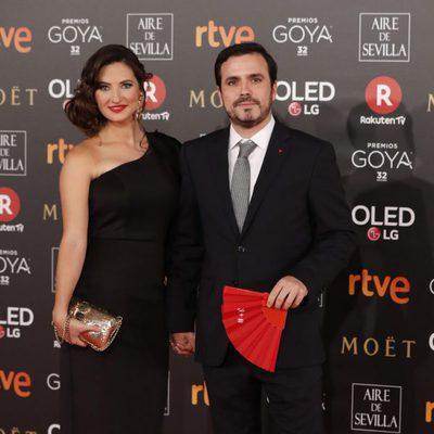 Alberto Garzón y Anna Ruiz en la alfombra roja de los Premios Goya 2018