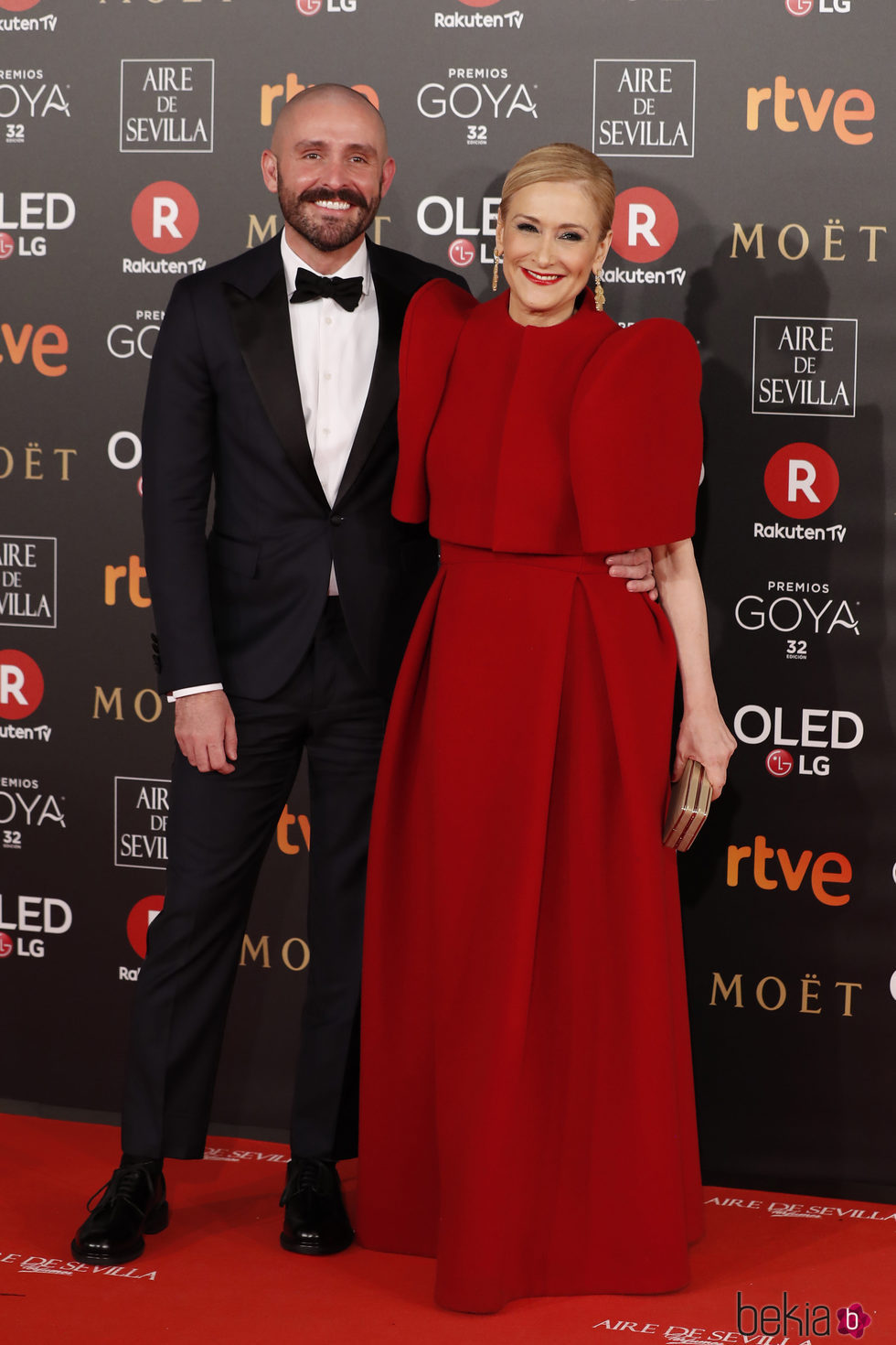 Cristina Cifuentes y Jaime de los Santos en la alfombra roja de los Premios Goya 2018