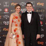 Albert Rivera y Beatríz Tajuelo en la alfombra roja de los Premios Goya 2018
