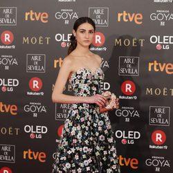 Sandra Escacena en la alfombra roja de los Premios Goya 2018