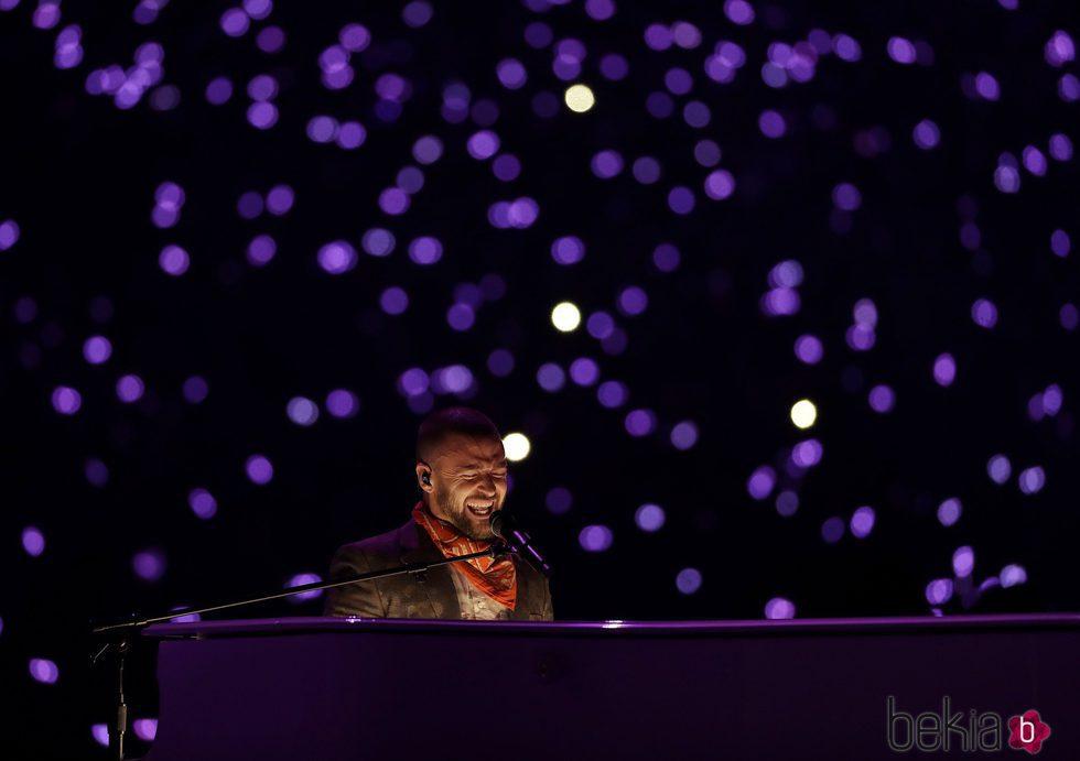 Justin Timberlake en el intermedio de la Super Bowl 2018