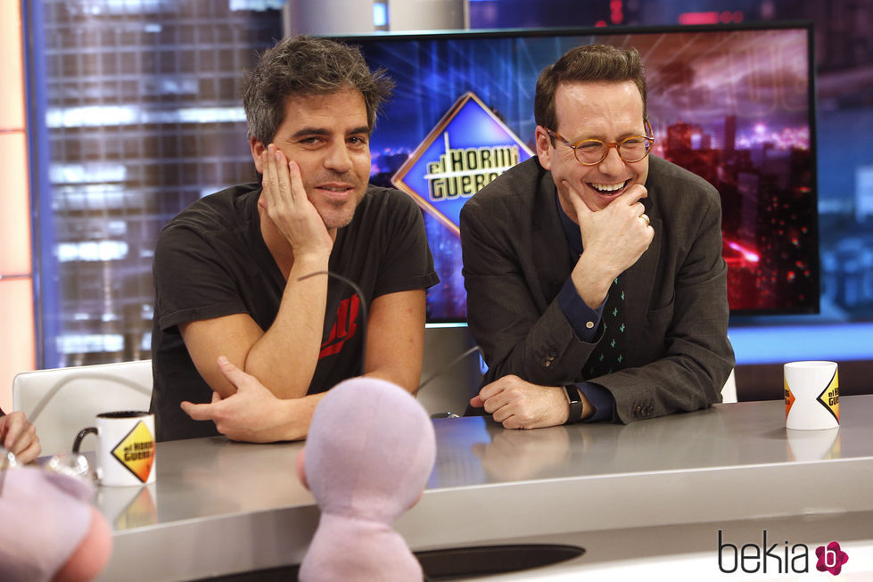 Ernesto Sevilla y Joaquín Reyes se divierten en 'El Hormiguero'